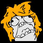 Angry Derpina - FFFUUU - internet meme