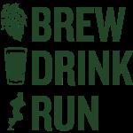 Brew Drink Run Square Logo