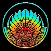 Mayan mask, crop circle, Quetzalcoatl, aztec