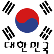 South Korea flag & korean language