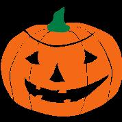 2 color Halloween Pumpkin vector