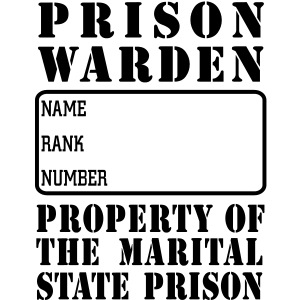 Warden, Marriage State Prison, personalize for bac