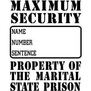 Prisoner, Marriage State Prison, personalize for