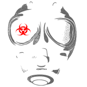 Biohazard Gas mask T Shirt