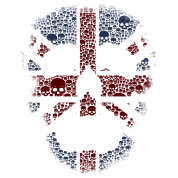 The British Skull Stencil Graphic desain