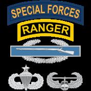 SF Ranger CIB Airborne Senior Air Assault