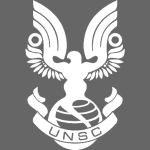 UNSC simplified white insignia