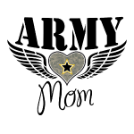 Army Mom Winged Heart Design