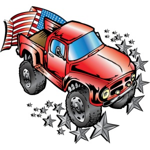 Old Patriotic Monster Truck Ford F100