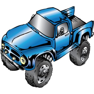 Old Blue Monster Truck Ford F100