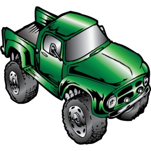 Old Green Monster Truck Ford F100