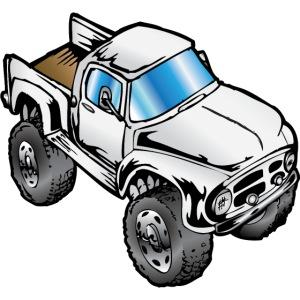 Old White Monster Truck Ford F100