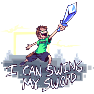 Design ~ i can swing my sword shirt tobuscus mp
