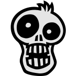 Toon SKULL 2 small vector