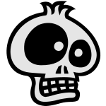Toon SKULL 3 small vector
