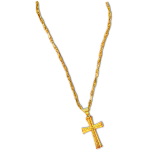 Long Gold Chain and Cross