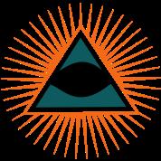 All seeing eye, triangle, god, Symbol omniscience