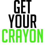Get Your Crayon Lime (Black)