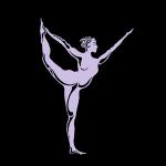 Yoga tree woman - standing bow pose