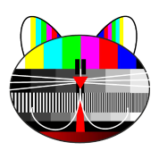 tv - television - test card cat