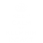 Keep Calm Intact White