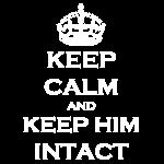 Keep Calm Intact White