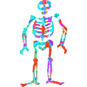 ELECTRIC NEON SKELETON