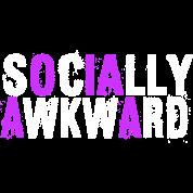 Socially Awkward White And Purple