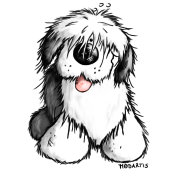 Old English Sheepdog - dog - cute cartoon