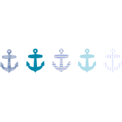 Nautical Blue Anchor Design