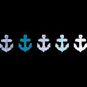 Nautical Blue Anchor Design