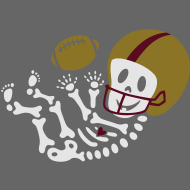 Design ~ Football Skelly Baby