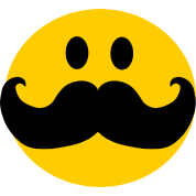 Funny Mustache Smiley