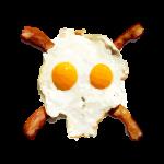 Bacon Eggs Skull