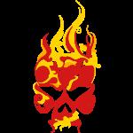 Flaming Skull (custom colors)
