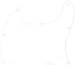 Tele White Pickguard