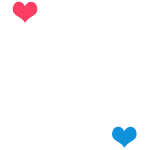 Distance Wont matter in the End White with Hearts