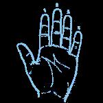 Guitar Blue Hand