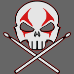 Rock and Roll Heavy Metal Skull and Crossbones
