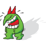 Just For Laughs Gags Victor Mascot Laughing Tears