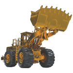 Old Mining Wheel Loader - Yellow