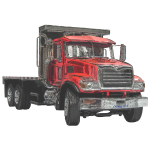 Flatbed Truck - Red