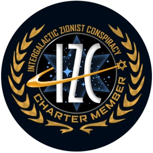 Intergalactic Zionist Conspiracy Button