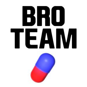 Bro Team Black Words Logo Women's T-Shirts