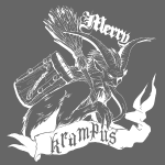 Merry Krampus white