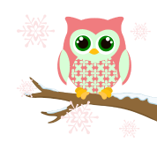 Pink winter owl
