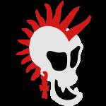 Punk Skull 1 small vector