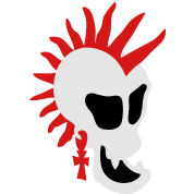 Punk Skull 1 small vector