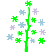 Christmas_tree & snowflakes
