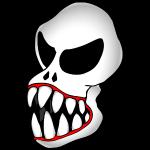 Monster Skull-1 Pixel Image